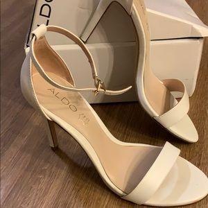 ALDO white leather Pauli's-70 open toe